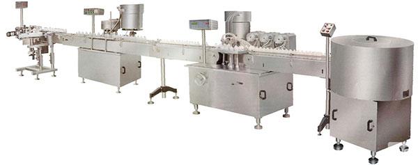 异常装量液体灌装生产联动线